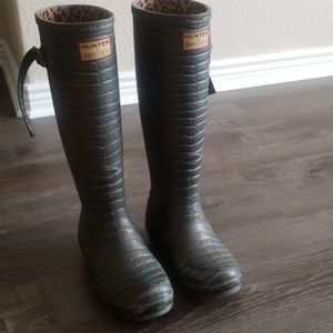 Hunter & Jimmy Choo rain boots size 6